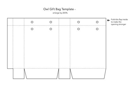 6 best images of printable paper bag template paper gift