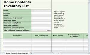 home inventory excel template home inventory checklist template excel business