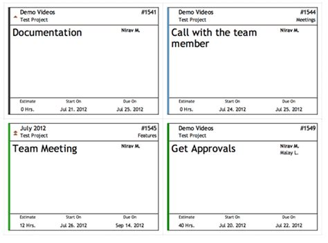 kanban card template kanban cards for activecollab with tasks plus module
