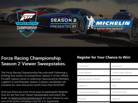 Forza Sweepstakes - forza racing chionship season 2 viewer sweepstakes