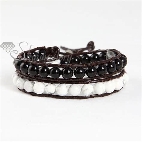 leather beaded wrap bracelet wrap leather turquoise beaded bracelet jewelry