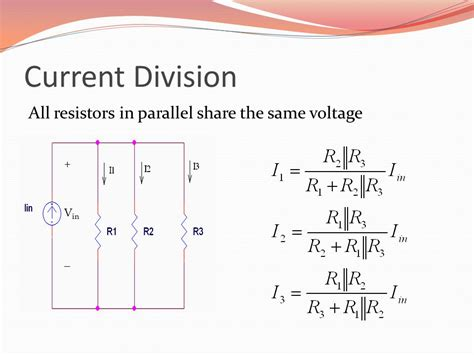 current through two resistors in parallel voltage and current division ppt