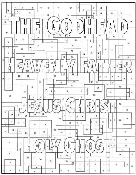 lds coloring pages godhead the godhead friend