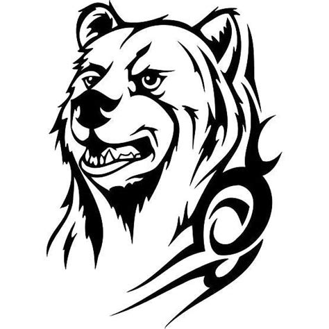 bear tribal tattoo design