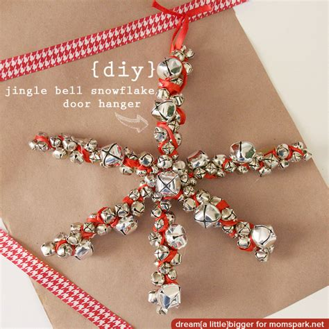 jingle bell snowflake door hanger mom spark mom blogger
