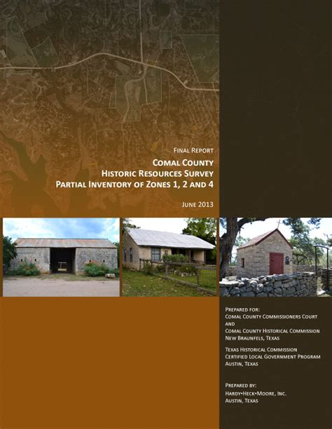 historic resource survey inventory projects comal county 2014 county commissioner party invitations