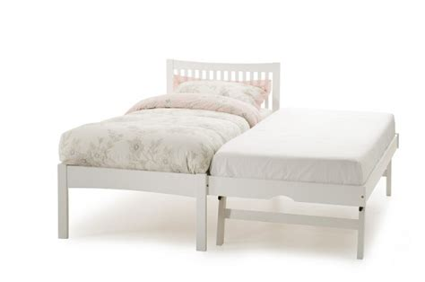 white single bed serene opal white 3ft single wooden guest bed frame
