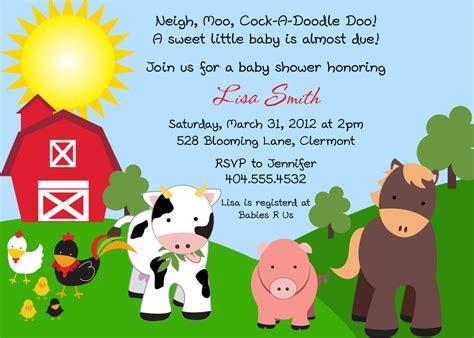 Farm Friends Baby Shower Invitation You Print By Bdesigns4you Farm Invitation Template