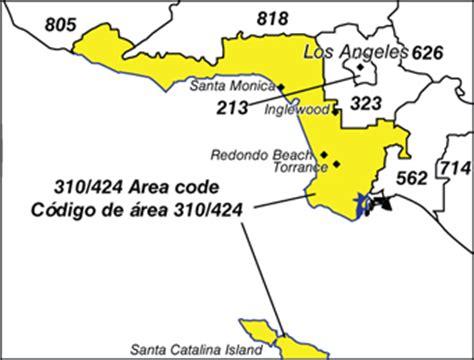 Area Code 310 Lookup 310 Area Code Map My
