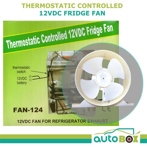 12 volt thermostatically controlled refrigerator vent fan caravan 12v fridge fan thermostatic switch cing