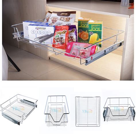wire sliding storage drawer shelf cabinet sliding drawer organizer metal pull out