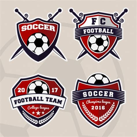 Emblem Sports Bahan Besi football logo vectors photos and psd files free