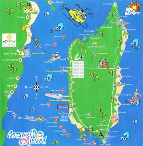 cozumel map about cozumel