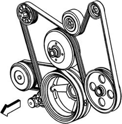 2005 gmc envoy v8 5.3l serpentine belt diagrams