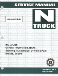 auto manual repair 2005 hummer h2 auto manual 2005 hummer h2 factory service manual 2 volume set