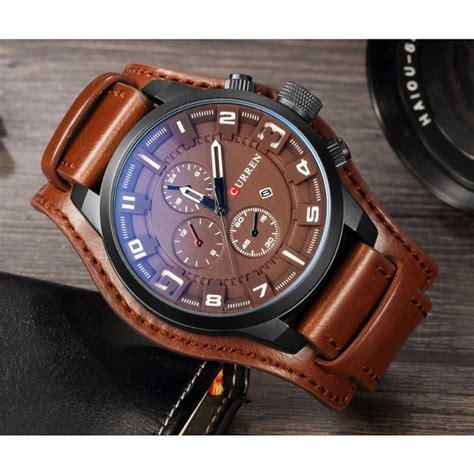 Jam Tangan Pria Mk curren jam tangan kulit analog pria mk5 brown jakartanotebook