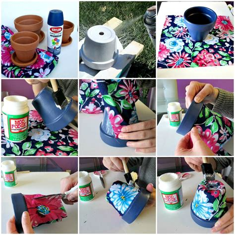how to decorate pot at home diy flower pots