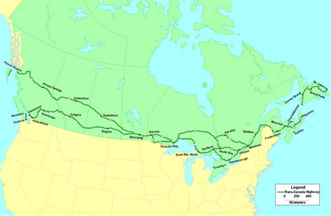 map of us and canada highways printable map of us and canada clipart best