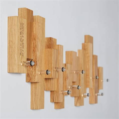 Design For Oak Coat Rack Ideas Oak Blocks Coat Rack By Mijmoj Design Notonthehighstreet