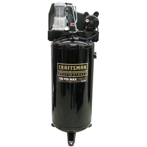 Craftsman 60 Gallon 3.1 RHP Oil Lubricated Professional Air Compressor 150 Max PSI 230 Volt
