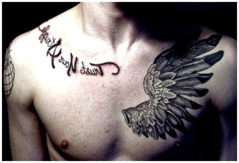 tattoo tribal di dada jendela gambar tatto sayap wing tattoos for men