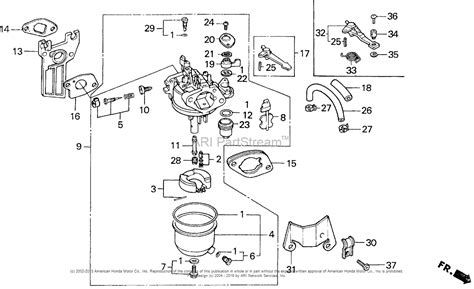 honda gx160 parts diagram honda engines gx160k1 ssx2 engine jpn vin gc02 2000001