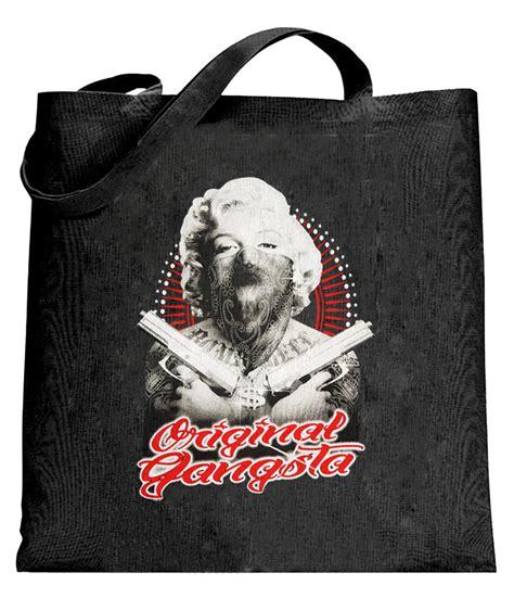Totebag Marilyn Black marilyn quot original gangster quot tote bag