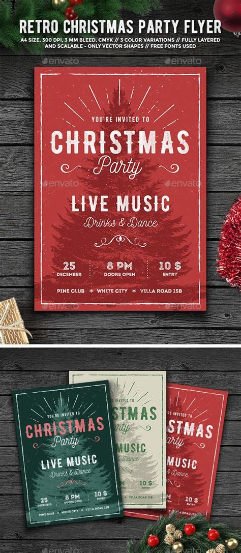 Rustic Christmas Party Flyer Cartelitos Bodas De Invierno Y Manualidades Navidad Rustic Flyer Template