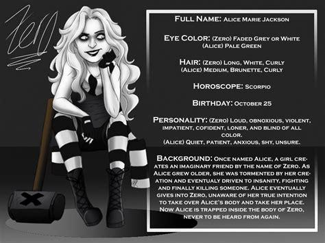 doll reader x creepypasta zero character card by zombiepunkrat on deviantart