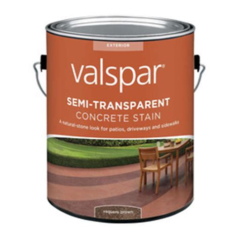 shop valspar semi transparent concrete stain vaquero brown actual net contents 128 fl oz at