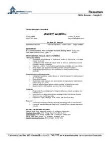 Resume Skills And Abilities by Resume Skill Examples Free Resume Templates