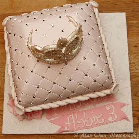 Cake Handmade - princess cushion pillow cake with handmade fondant tiara