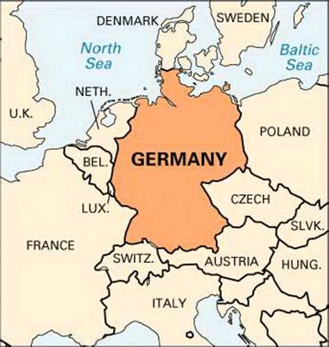 germany location map germany location encyclopedia children s