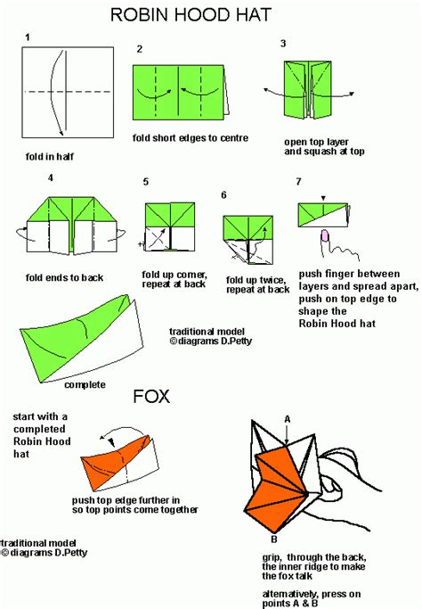 Origami Robin Hat - robin hat origami tutorial crafts hats