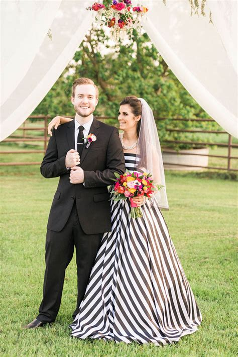 Flower Stipe Dress modern wedding style kate spade how to diy wedding flowers
