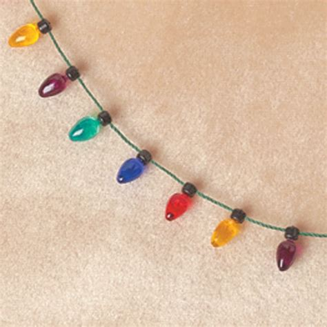 christmas light necklace christmas light bulb necklace