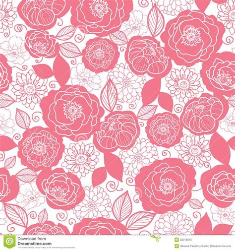 pattern pink soft soft pink and white florals seamless pattern stock photo