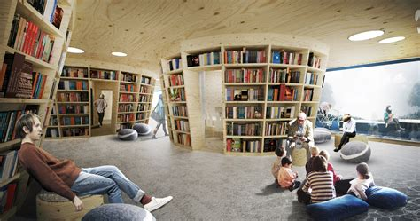 Library Interior Design Concept by Culture Island Library Ugo Architecture