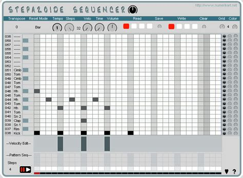 drum pattern sequencer download kvr stepazoide sequencer by numerikart step sequencer