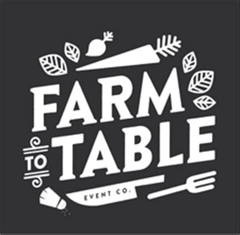 farm to table delivery farm to table event co logo