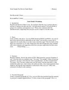 peer review template 12 best images of writing peer review worksheet