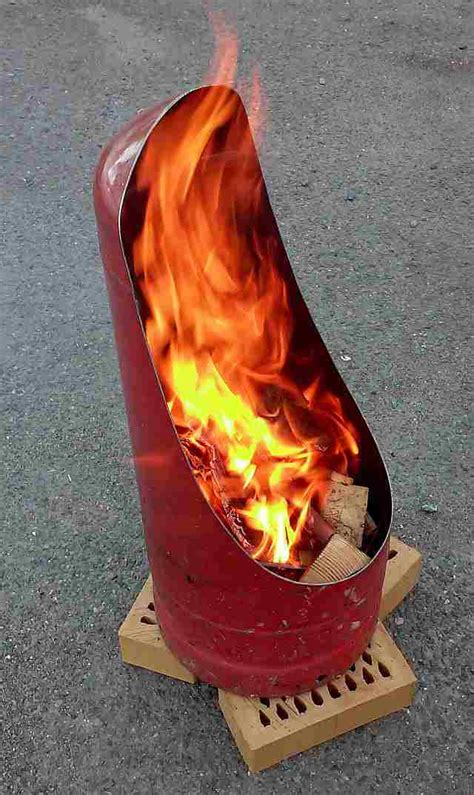 propane tank chiminea how to make a firepit from an gas bottle handycrowd