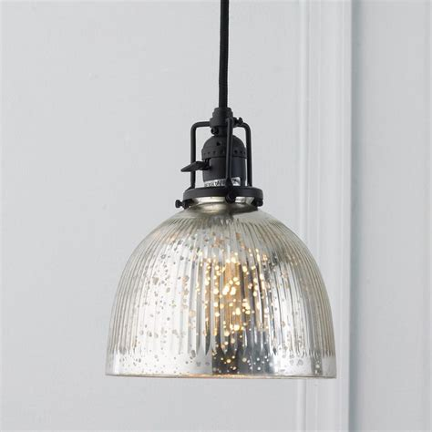ribbed dome mercury glass shade pendant light mercury