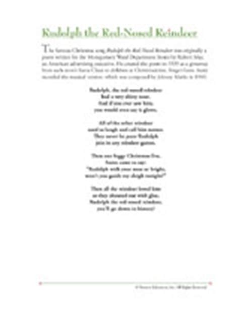 printable lyrics to rudolph the red nosed reindeer christmas song lyrics rudolph the red nosed reindeer