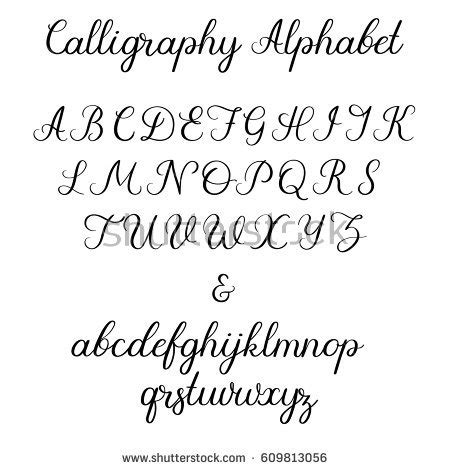Wedding Font Capital by Calligraphic Vector Font Uppercase Lowercase Ersand