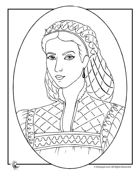 coloring page of queen queen victoria free colouring pages