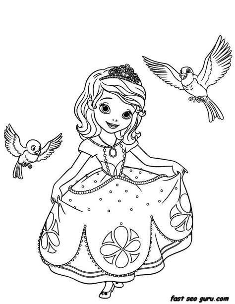 sofia the coloring pages printable disney princesses sofia the coloring pages