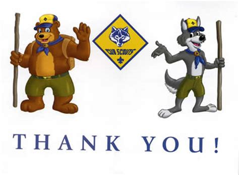 cub scout thank you card template search results for cards calendar 2015
