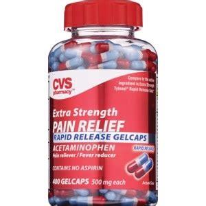 cvs extra strength pain relief rapid release gelcaps