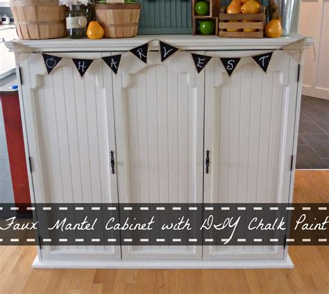 diy chalk paint hutch faux mantel cabinet from an china hutch using diy